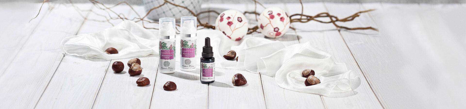 produkty pro péči o rozšířené žilky - přírodní kosmetika Nobilis Tilia