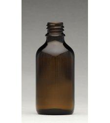 Obaly na kozmetiku - Fľaša hnedé sklo 50 ml - L0004
