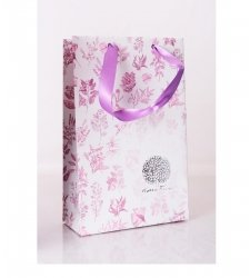 Praktické pomůcky - aromaterapie a kosmetika - Dárková květovaná taška se stuhou - L2020 - 1 ks