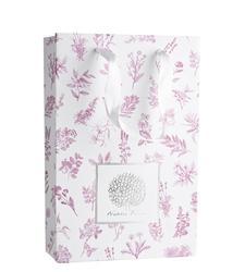 Obaly na kosmetiku - Dárková květovaná taška se stuhou - L2020