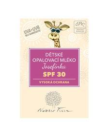 Prírodná opaľovacia kozmetika pre celú rodinu - Detské opaľovacie mlieko Josefínka SPF 30 3 ml - N0423VZS