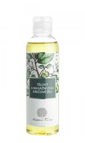 Tělový a masážní olej Křečové žíly