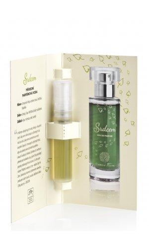 Prírodná parfumovaná voda Srdcom 2 ml testr