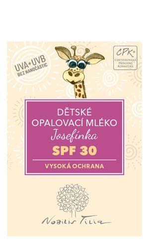 Dětské opalovací mléko Josefínka SPF 303 ml - vzorek sáček